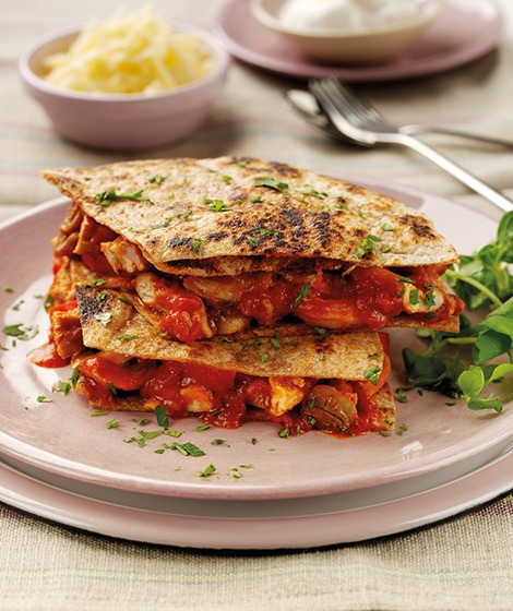Spicy Chicken Wholemeal Tortilla Stack Recipe