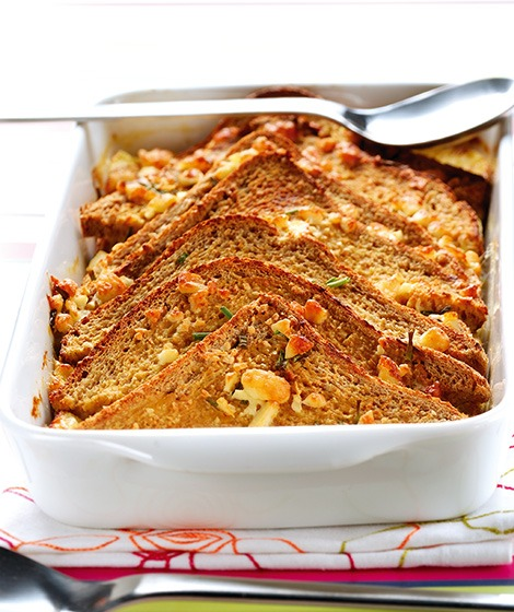 Wholemeal Bread, Chive & Cheshire Pudding Recipe