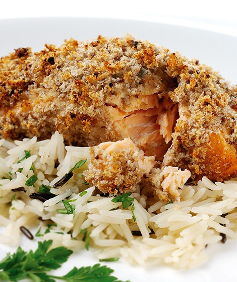 Breadcrumb & Mustard Topped Salmon Recipe