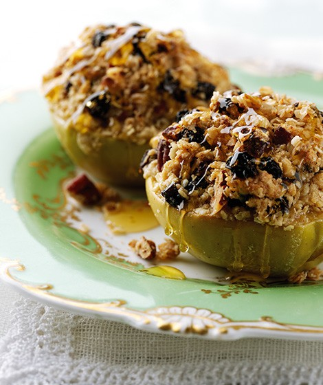Oat & Pecan Baked Apples