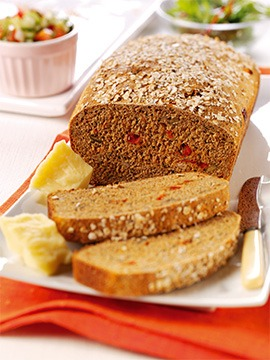 Seeded Brown Bread with Tomato & Herbs