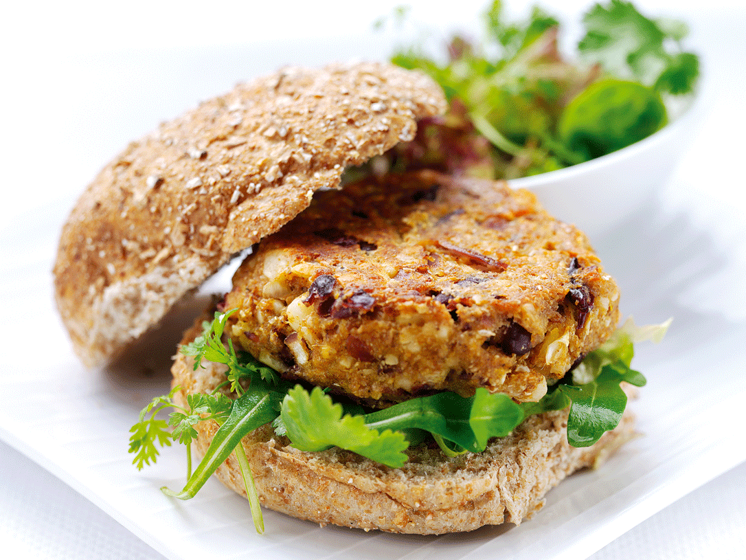 Vegetarian Recipes: Spicy Bean Burgers
