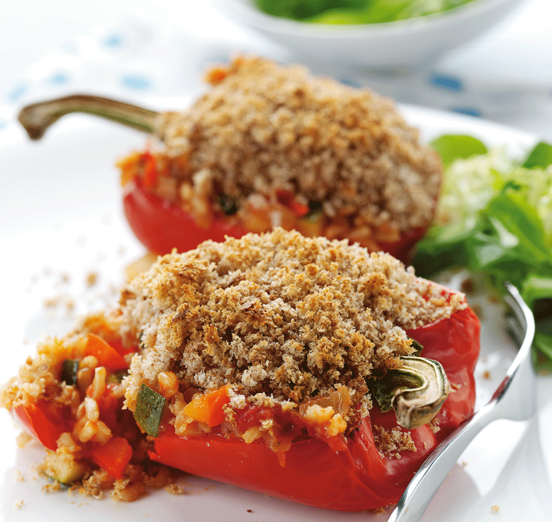 Vegetarian Recipes: Stuffed Peppers