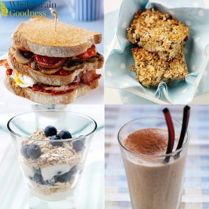 Four different breakfast recipes image